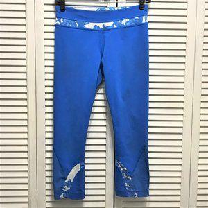 Lululemon croped blue leggings floral print sz 6